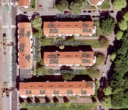 Satelitbild över Brf Svenstorp 3 från Eniro